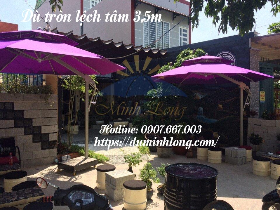 Dù tròn lệch tâm - Mẫu dù nhỏ gọn, tinh tế của đại lý bán dù che nắng tại quận Tân Bình Dù Minh Long