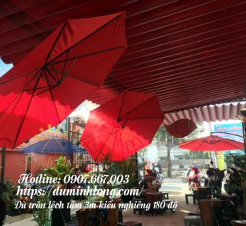 Đại lý bán dù che nắng tại quận Tân Bình Dù Minh Long được nhiều quán cà phê sử dụng