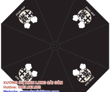 Hình ảnh thiết kế áo dù tròn 3m cao cấp Minh Long