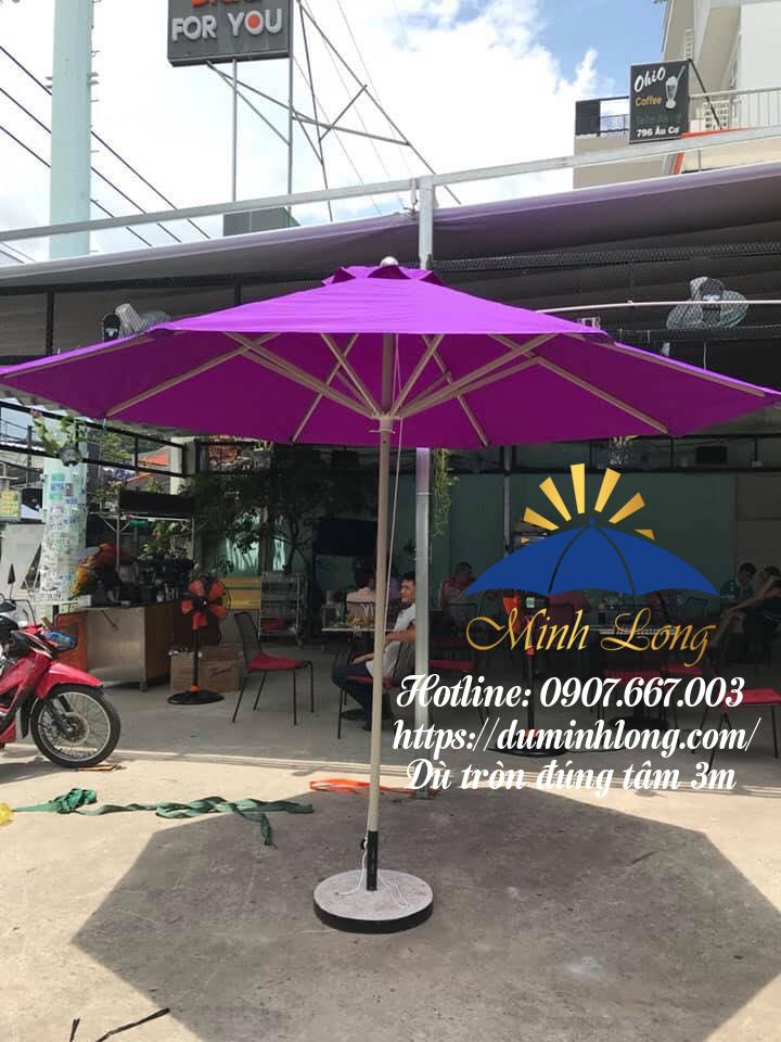 Dù che nắng huyện Hóc Môn - mẫu dù tròn thông dụng