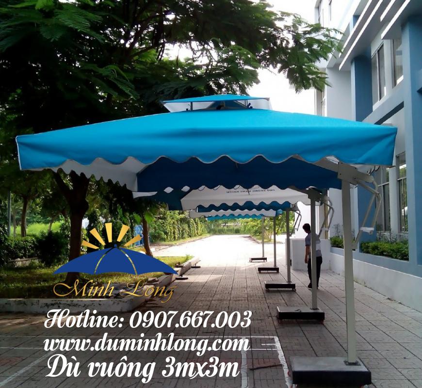 Bán dù che nắng tại Bình Định, mẫu dù vuông 3mx3m