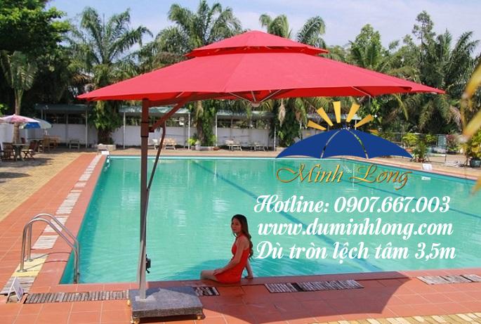 Dù che nắng Kon Tum che nắng che mưa cho hồ bơi, quán cafe