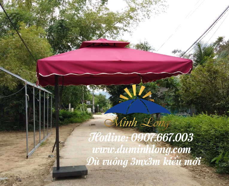 Dù che nắng tại Kon Tum, mẫu dù vuông kiểu mới