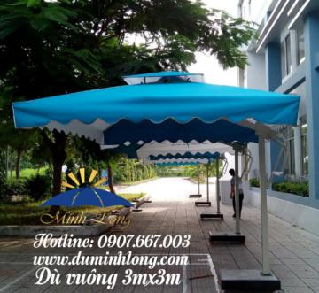 Dù che nắng tại Quảng Ngãi uy tín, mẫu dù vuông lệch tâm 3mx3m