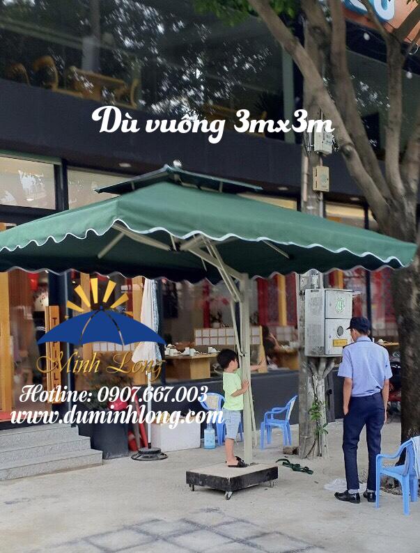 Dù che nắng tại Tiền Giang, mẫu dù vuông 3mx3m cao cấp