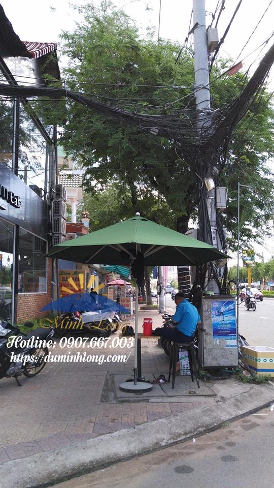 Địa điểm mua bán dù che nắng quận Phú Nhuận, mẫu dù tròn đúng tâm 3m