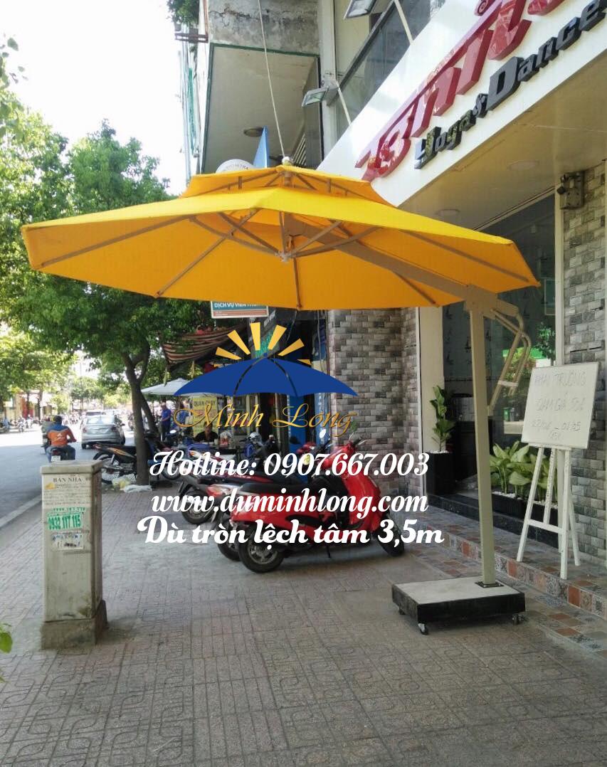 Dù che nắng tại Bình Thuận, mẫu dù lệch tâm 3,5m cao cấp, chất lượng tốt