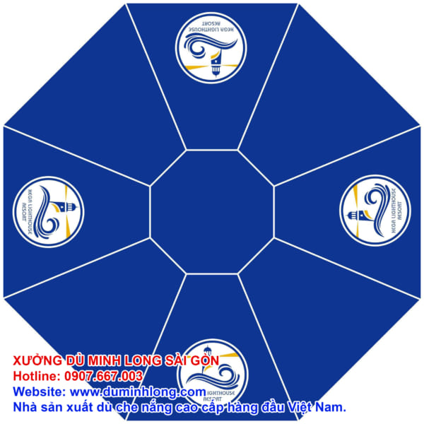 Thiết kế logo cho áo dù tròn 3m cao cấp Minh Long