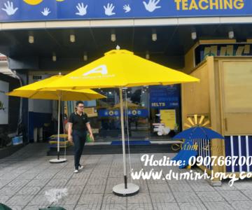 Bán dù tròn đúng tâm 3m màu vàng cho cửa hàng, quán cà phê